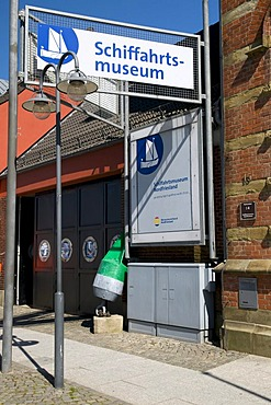Entrance to the Schifffahrts-Museum, shipping museum, Husum, North Friesland, Schleswig-Holstein, Germany, Europe