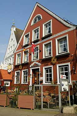 Country doctor pub Hotel Aurora, Kappeln, Schlei, Schleswig-Holstein, Germany, Europe