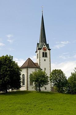 Parish church in Stein in the region of Appenzell, Switzerland, Europe