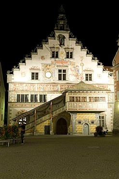 Old town hall in the old town, Lindau, Lake Constance, Bavaria, Germany, Europe