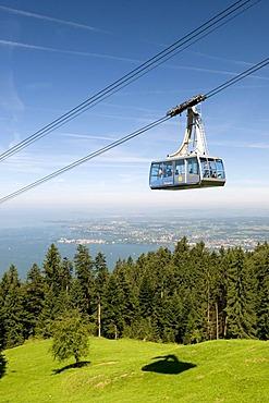 Pfaenderbahn aerial tramway ascending to Mt. Pfaender, 1064m, Bregenz, Lake Constance, Vorarlberg state, Austria, Europe