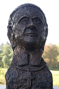 Bust of Clemens August von Droste-Vischering, 1773-1845, auxiliary bishop of Munster, archbishop of Cologne, Luedinghausen, Muensterland region, North Rhine-Westphalia, Germany, Europe