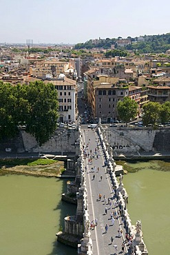 Ponte Sant'Angelo bridge over the Tiber river, Rome, Italy, Europe