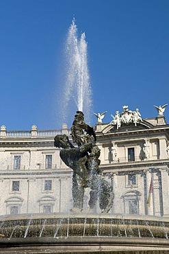 The Fountain of the Naiads in the Piazza della Repubblica square, Rome, Italy, Europe