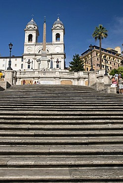 Basilica Church of S. Trinita dei Monti at the Spanish Steps, Piazza di Spagna, Rome, Italy, Europe