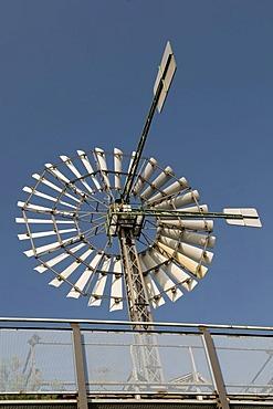 Windmill in the Landschaftspark landscape park Duisburg Nord, Duisburg, Ruhrgebiet area, North Rhine-Westphalia, Germany, Europe