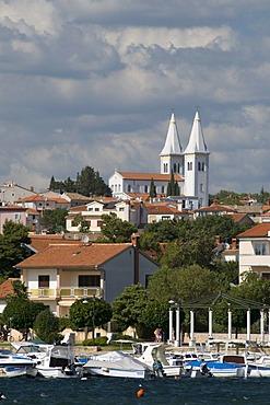 Cityscape and port, Medulin, Istria, Croatia, Europe
