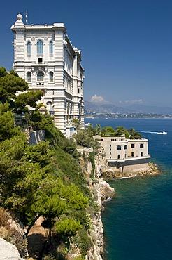 Research institute and Musee Oceanographique Museum, Monte Carlo, Cote d'Azur, Monaco, Europe