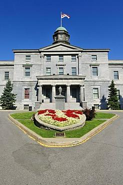 Historic McGill University building, Montreal, Quebec, Canada, North America