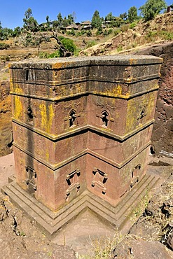 Bet Giyorgis church at Lalibela, UNESCO World Heritage Site, Amhara, Ethiopia, Africa