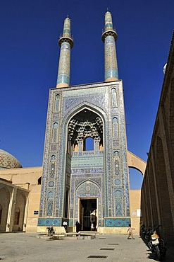 Friday or Congregational Mosque in the historic town of Yazd, UNESCO World Heritage Site, Iran, Persia, Asia