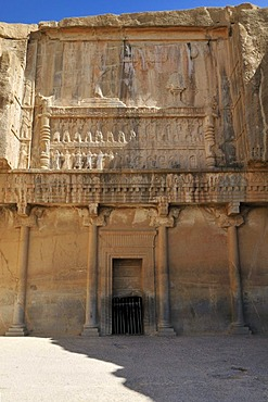 Tomb of King Artaxerxes II., Achaemenid archeological site of Persepolis, UNESCO World Heritage Site, Persia, Iran, Asia