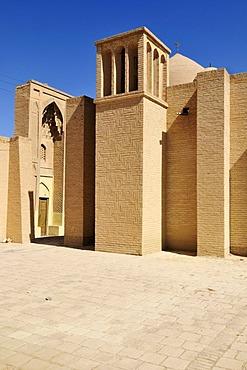 Windtower in historic adobe oldtown of Nain, Isfahan, Esfahan, Iran, Persia, Asia