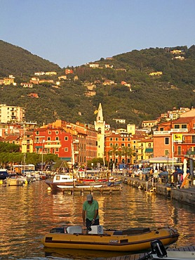 Old town and the port of Lerici, Bay of La Spezia, Riviera, Liguria, Italy, Europe