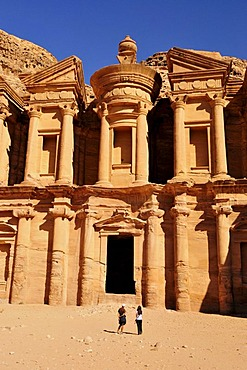Facade of the procession monastery Ed-Deir in the Nabataean city of Petra, World Heritage Site near Wadi Musa, Jordan, Middle East, Orient