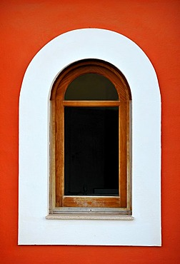 Close-up of a window in Corralejo, Fuerteventura, Canary Islands, Spain, Europe