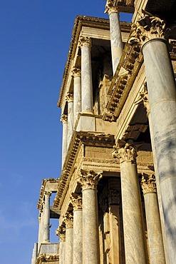 Ruins, theater in the old Roman city Emerita Augusta, Ruta de la Plata, Merida, Badajoz province, Spain, Europe