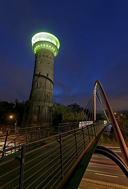 Former water tower of the Gutehoffnungshuette ironworks, GHH group, Oberhausen, Ruhrgebiet region, North Rhine-Westphalia, Germany, Europe
