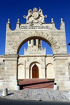 Cos d'Estournel, famous vineyard, St Estephe, Medoc, Aquitaine, France, Europe