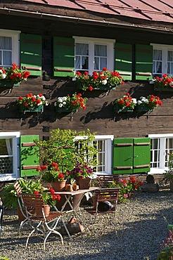 House in Hirschegg, Kleinwalsertal, Allgaeu, Vorarlberg, Austria, Europe
