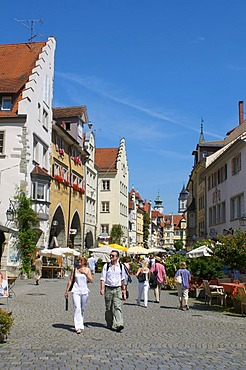 Maximilianstrasse street in the old town, Lindau, Bavaria, Germany, Europe
