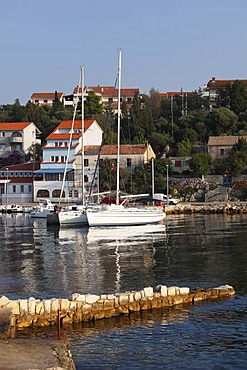 Tovarnele harbor, Pag island, Dalmatia, Kvarner Bay, Adriatic Sea, Croatia, Europe