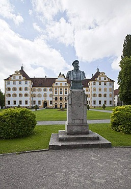 Monument to Prince William of Baden in Salem Abbey, a monastery of the Cistercian order, South German Rococo style, location of the Salem Castle Boarding School, Salem municipality, Linzgau, Baden-Wurttemberg, Germany, Europe