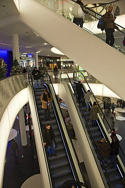 My Zeil shopping mall at Christmas time, Zeil, Frankfurt, Hesse, Germany, Europe