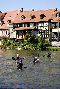 Little Venice at the Regnitz river, UNESCO World Heritage Site Bamberg, Upper Franconia, Bavaria, Germany, Europe