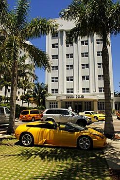 Royal Palm Hotel, Miami South Beach, Art Deco district, Florida, USA
