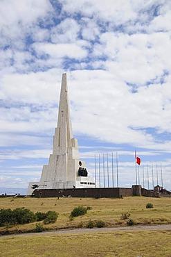 Historic monument on the Battlefield of Ayacucho, 1824, Pampa de la Quinua, Peru, South America, Latin America