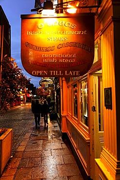 O'Sheas, Irish restaurant, sign, Dublin, Ireland, Europe