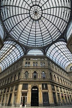 Shopping arcade Galleria Umberto in Naples, Italy, Europe