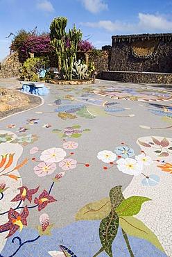 Plaza La Glorieta in Las Manchas, La Palma, Canary Islands, Spain, Europe