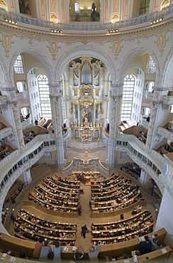 Frauenkirche Church of Our Lady in Dresden, Saxony, Germany, Europe