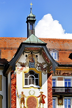 Pompous house in the historic centre, Bad Toelz, Bavaria, Germany, Europe