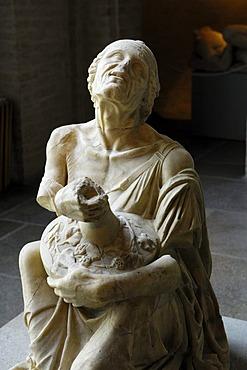 """""""Trunkene Alte"""", """"Drunk old woman"""", Glyptothek museum, Munich, Bavaria, Germany, Europe"""
