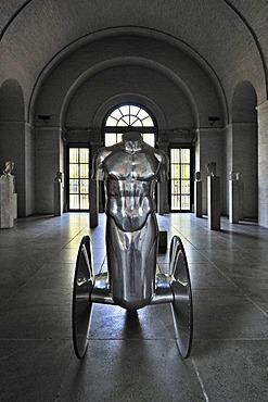 "Christoph Bergmann's ""Mythos in Metall"", Glyptothek museum, Munich, Bavaria, Germany, Europe"