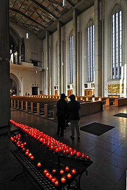 Sacrificial candles, Mariahilf Church, Au district, Munich, Bavaria, Germany, Europe