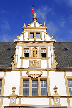 Schloss Neuhaus, moated castle, Weser Renaissance, Paderborn, North Rhine-Westphalia, Germany, Europe