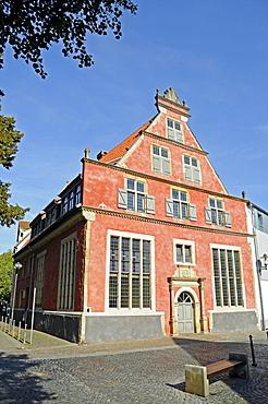 Fruehherrenhaus, birthplace of Lieutenant Otto Weddingen, historic building, historic town centre, Herford, Eastern Westphalia, North Rhine-Westphalia, Germany, Europe
