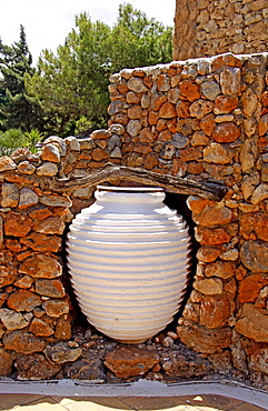 Large jug, Lychnostatis Open Air Museum, Museum of the traditional Cretan life, Hersonissos, Crete, Greece, Europe