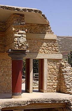 Knossos, archaeological excavation site, Heraklion, Crete, Greece, Europe