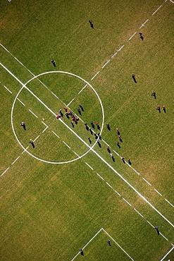 Aerial photo, sports field, Hagen Hohenlimburg, Sauerland region, North Rhine-Westphalia, Germany, Europe