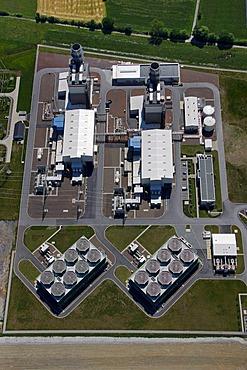 Aerial photo, Kraftwerk Westfalen power plant, gas turbine power plant, Trianel, Uentrop, Hamm, Ruhrgebiet region, North Rhine-Westphalia, Germany, Europe