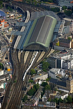 Aerial view, central station, Spamelot Musical, Cologne, North Rhine-Westphalia, Germany, Europe