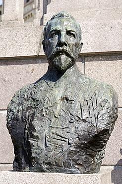 Peter Christian Hersleb Jjerschow Michelsen, 1857-1925, shipping magnate and statesman, memorial, Karl Johans gate Oslo, Norway, Scandinavia, Europe
