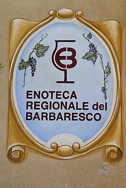 Enoteca Regionale del Barbaresco, Provincia Cuneo, Piemont, Piedmont, Italy, Europe