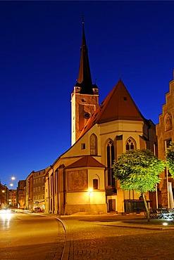 Frauenkirche, Our Lady's church, Marienplatz, Wasserburg upon the river Inn, Upper Bavaria, Germany, Europe