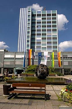Modern City Hall of Bayreuth, Franconian Switzerland, Franconia, Bavaria, Germany, Europe